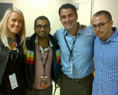 Aziz Ansari Pays The M&M Group a Visit